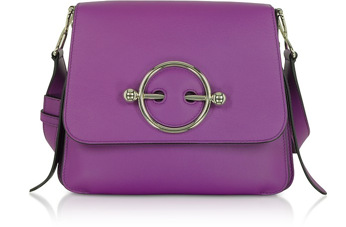 Purple Leather Disc Bag - JW Anderson