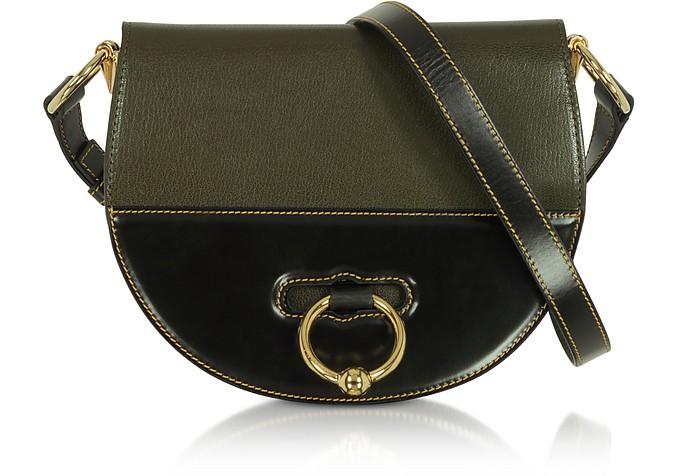 J.W.ANDERSON Jw Anderson Khaki Green Latch Leather Shoulder Bag