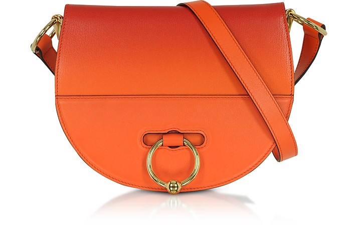 Gradient Tangerine Leather Latch Bag - JW Anderson
