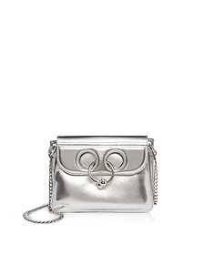 Silver Leather Mini Pierce Bag - JW Anderson