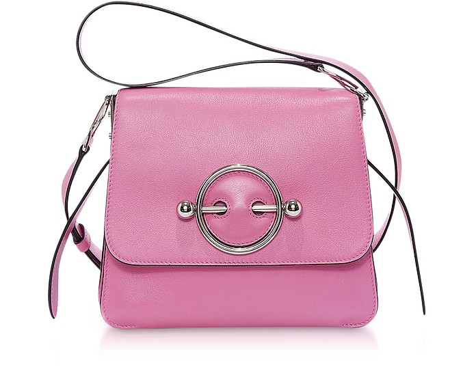 Camellia Smooth Calf Leather Disc Bag - JW Anderson
