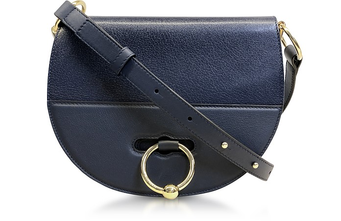 Flap Top Leather Latch Bag w/Shoulder Strap - JW Anderson