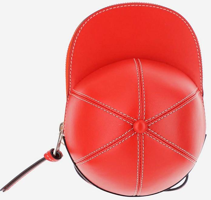 Red Cap Bag w/Shoulder Strap - JW Anderson