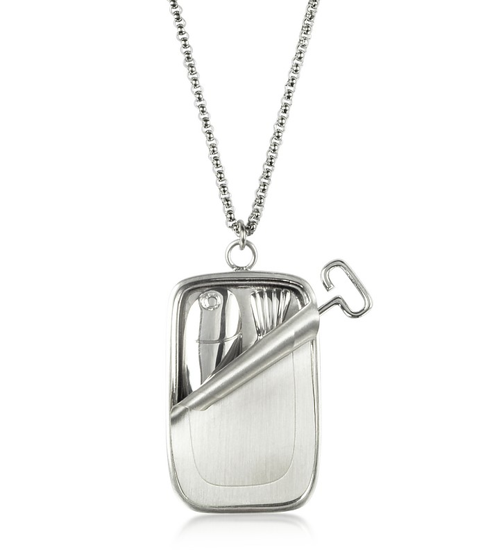 Sardine Tin Pendant Necklace - JW Anderson