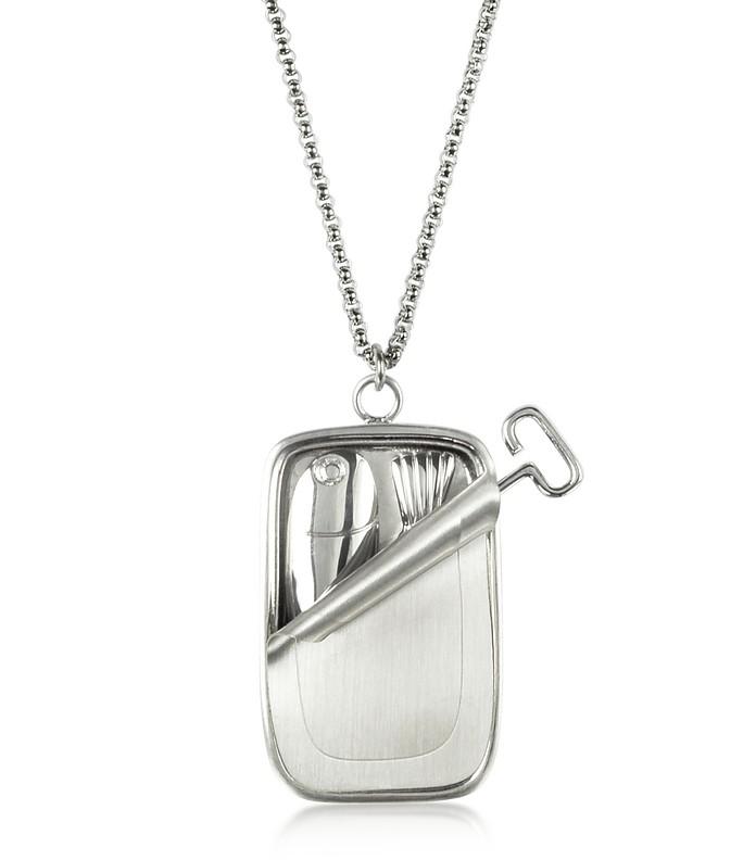 Ожерелье с Кулоном Консервной Банкой Сардин - JW Anderson