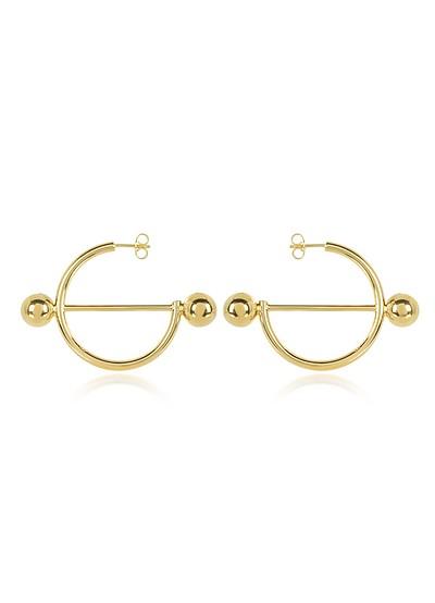 Disc Hoop Earrings - JW Anderson
