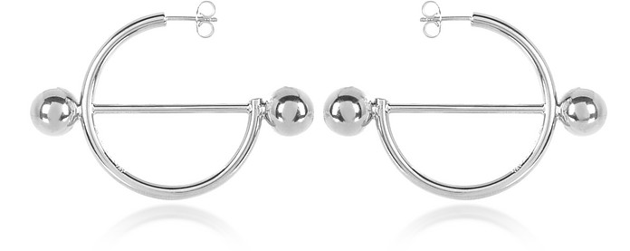 Disc Hoop Earrings - JW Anderson
