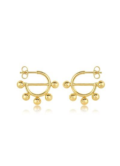 Disc Mini Hoop Earrings - JW Anderson