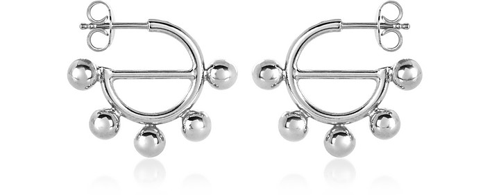 Disc Mini Hoop Earrings - JW Anderson