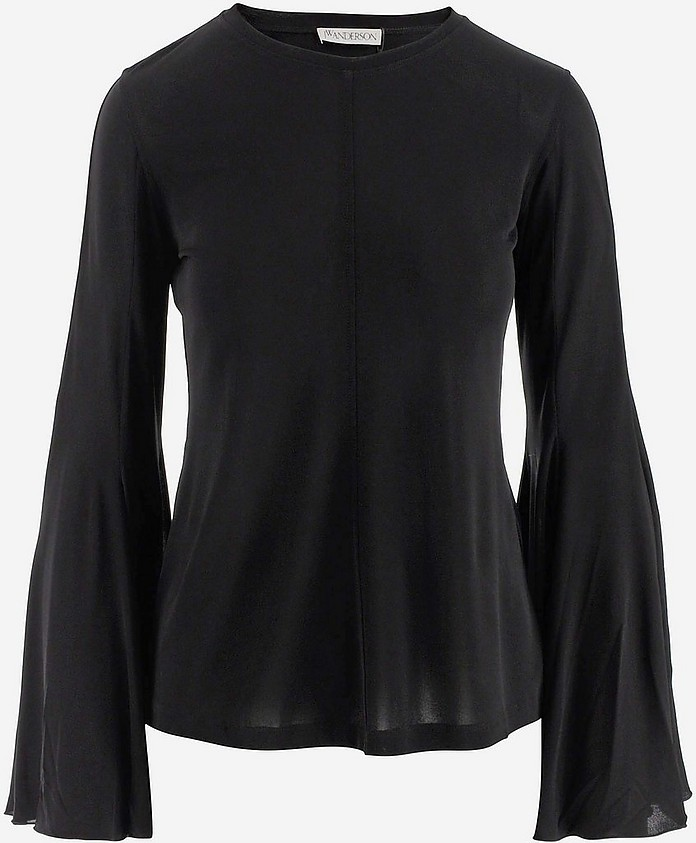 Black Women's Top w/Long Sleeve - JW Anderson