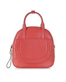 Ginger Red Sophia Leather Mod Tote