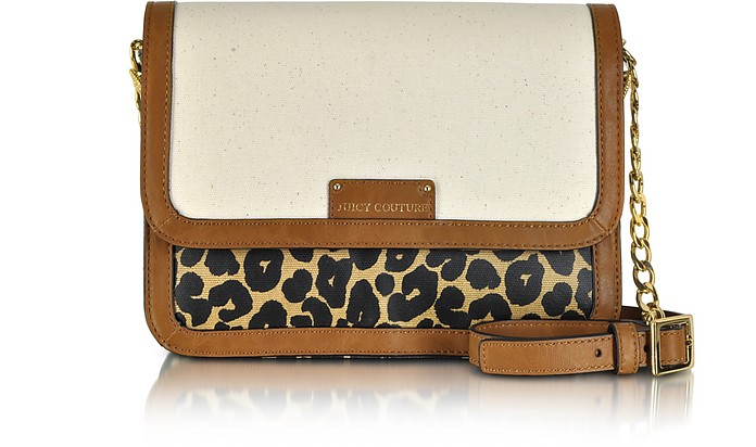 Laurel Leopard Coated Canvas Crossbody Bag - Juicy Couture