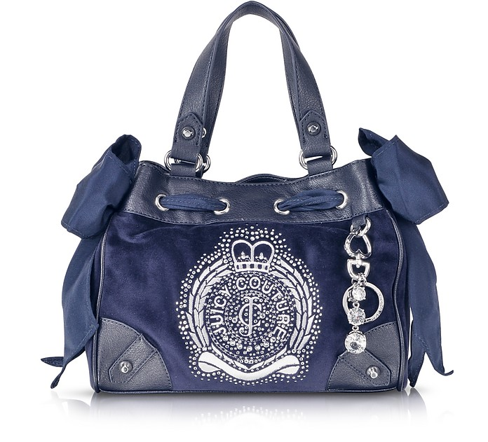 Iconic Crest Velour Mini Daydreamer Handbag - Juicy Couture