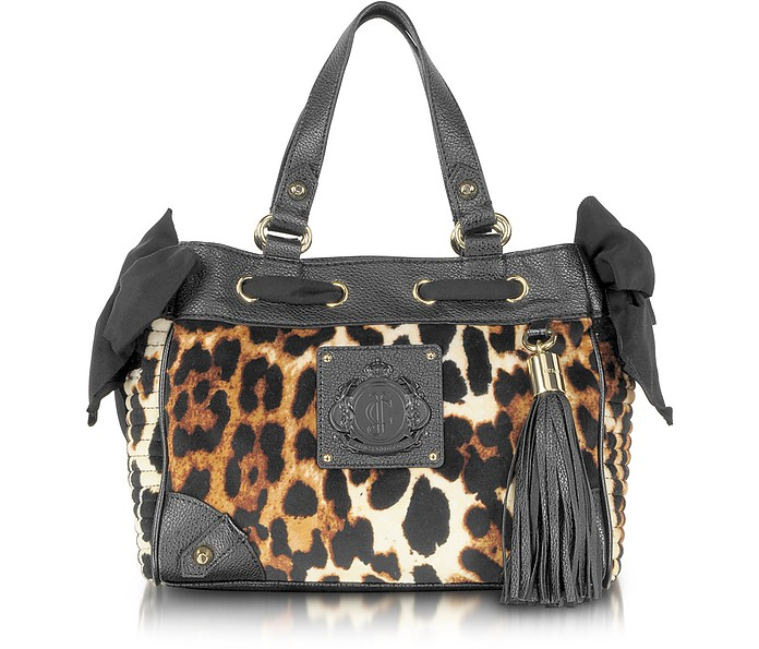 9ab228075acb Juicy Couture Animal Printed Velour Mini Daydreamer Tote at FORZIERI