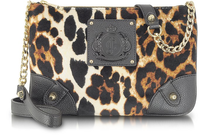 Animal Printed Velour Crossbody - Juicy Couture
