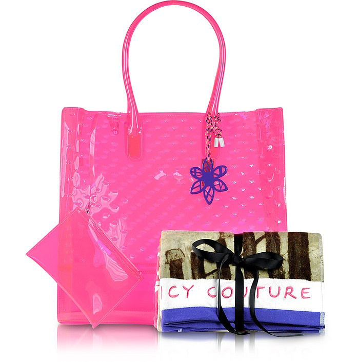 Juicy Couture Leann Pool Party Jelly Tote W  Beach Towel at FORZIERI 5cd98f7a2469