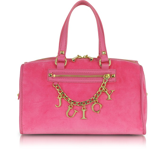Iconic Charm Velour Steffy Satchel - Juicy Couture
