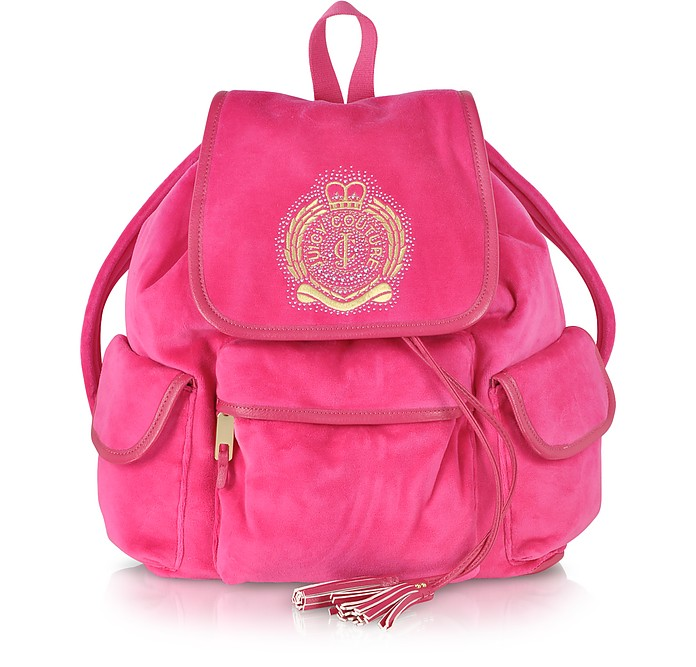 Iconic Crest Velour Backpack - Juicy Couture