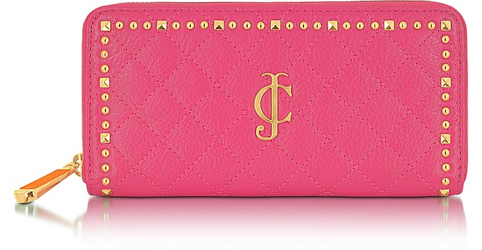 Studded Leather Zip Wallet - Juicy Couture