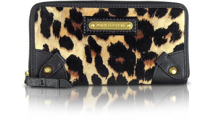 Animal Print Zip Around Wallet - Juicy Couture