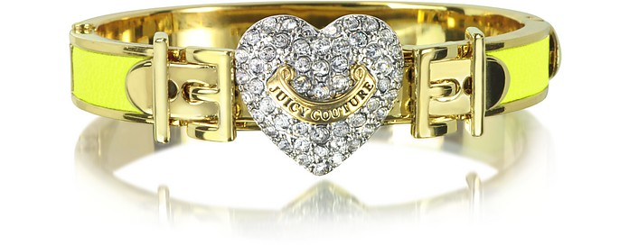 Pave Heart Neon Hinged Bangle - Juicy Couture