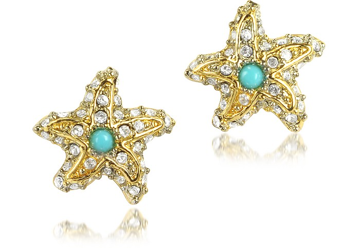 Pave Starfish Stud Earrings - Juicy Couture