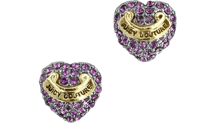 Pave Heart Studs - Juicy Couture