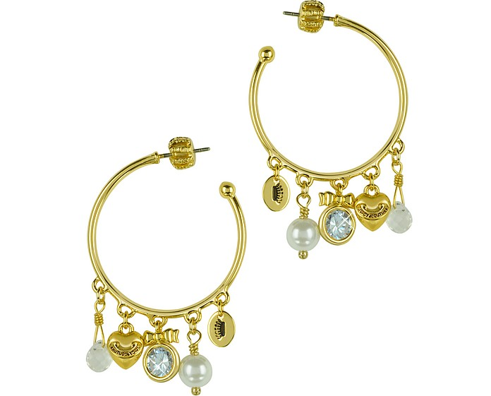 Charmy Hoop Earrings - Juicy Couture