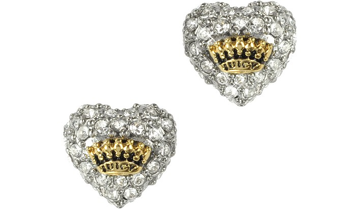 Pave Heart Stud Earrings - Juicy Couture