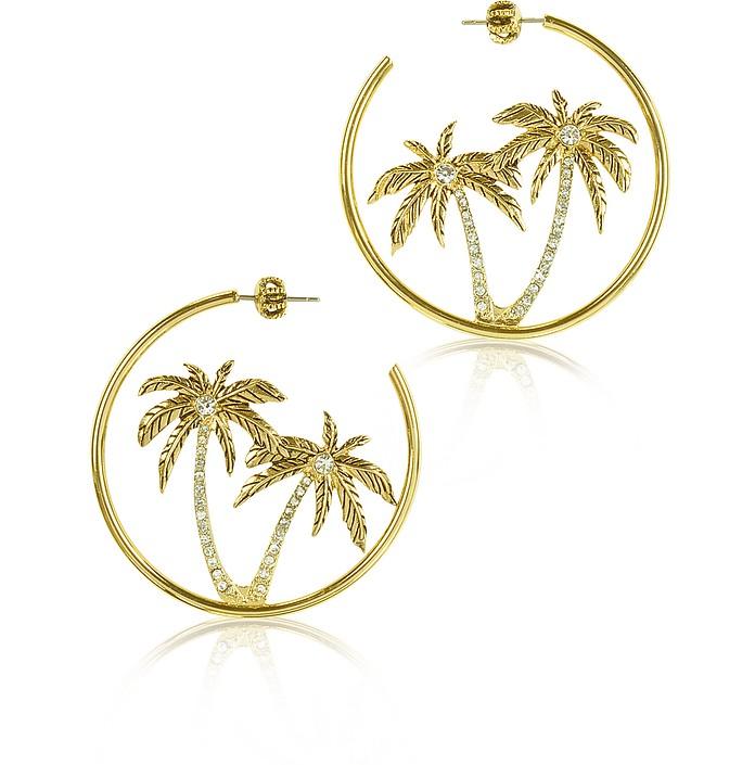 Palm Tree Hoop Earrings - Juicy Couture