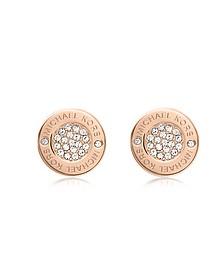 Heritage Pave Stud Earrings - Michael Kors