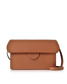 Efimia Tobacco Leather Shoulder Bag - Roksanda