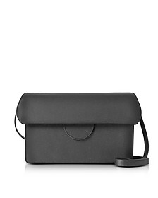Efimia Black and Navy Leather Shoulder Bag - Roksanda