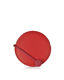 Red Leather Round Clutch - Roksanda