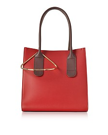 Red and Chestnut Leather Mini Weekend Bag - Roksanda / ロクサンダ