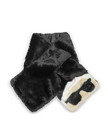K/Ikonik Faux Fur Long Scarf - Karl Lagerfeld