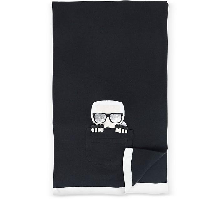 K/Ikonik Pocket Knit Scarf - Karl Lagerfeld