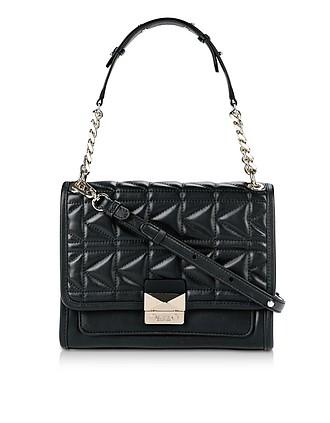 f737d7fd799c K Kuilted Leather Shoulder Bag - Karl Lagerfeld