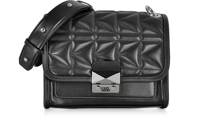 K/Kuilted Mini Leather Shoulder Bag - Karl Lagerfeld