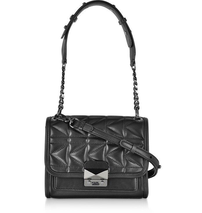 K/Kuilted Mini Leather Shoulder Bag - Karl Lagerfeld