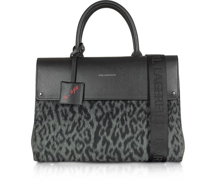 Carine x Karl Ikon Borsa Shopping Leo - Karl Lagerfeld