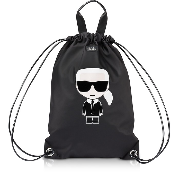 K/Ikonik Nylon Flat Backpack - Karl Lagerfeld