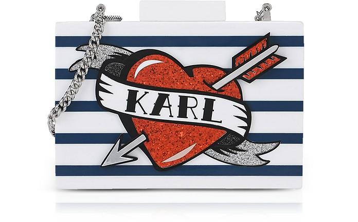 Captain Karl Minaudiere Clutch - Karl Lagerfeld