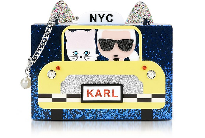 Karl Nyc Taxi Minaudiere Clutch - Karl Lagerfeld