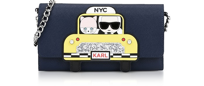 NYC Chain Wallet Clutch - Karl Lagerfeld