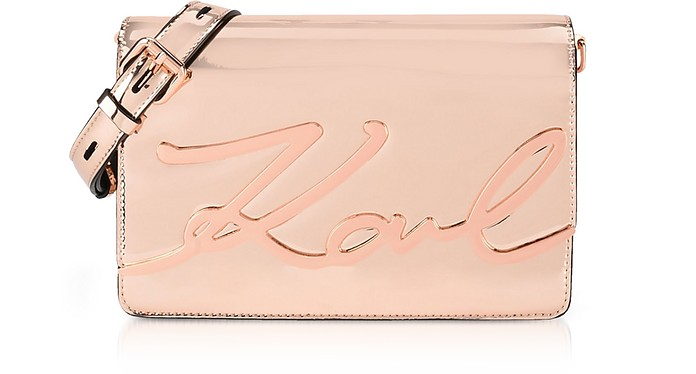 K/Signature Gloss Shoulder Bag - Karl Lagerfeld