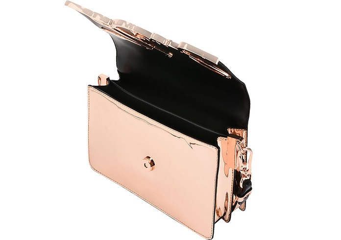 K/Signature Borsa con Tracolla in Pelle Metallizzata Karl Lagerfeld Oro Rosa rNSwgr0zi2