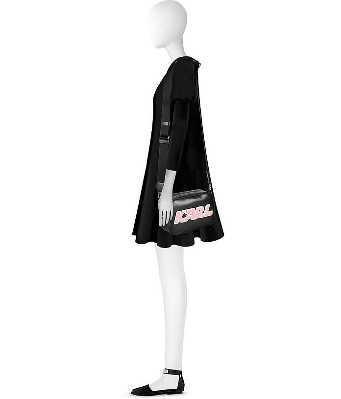Nera KSport De Dans Pelle Con Sac Caméra Karl Logo Lagerfeld La BdeoCxWQr