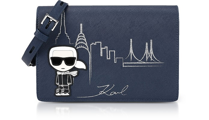 Midnight Blue NYC Shoulder Bag  - Karl Lagerfeld