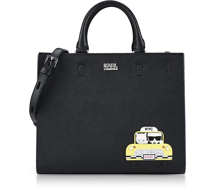 Black NYC Mini Tote - Karl Lagerfeld
